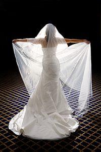 Bridal portrait using strobist technique