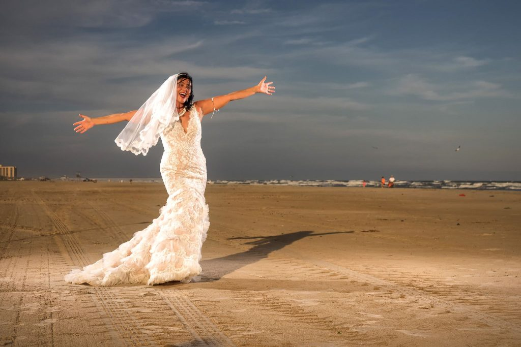 Beach wedding at Port A Beach Lodge, Port Aransas, Texas